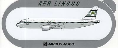 Aer Lingus Airbus A320 Retro Livery Airline Sticker ~Ultra Rare Limited Edition~