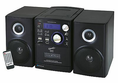 Supersonic Bluetooth Portable Stereo System Mp3 Cd Cassette Player Usb/sd/mmc
