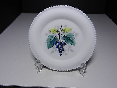 "Westmoreland Beaded Edge Bread & Butter Plate Blueberry 6"" D ca 1953-1985"