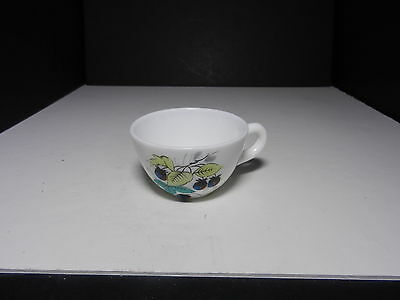 "Westmoreland Beaded Edge Cup Blackberries 2 1/4"" T  ca 1953-1985"