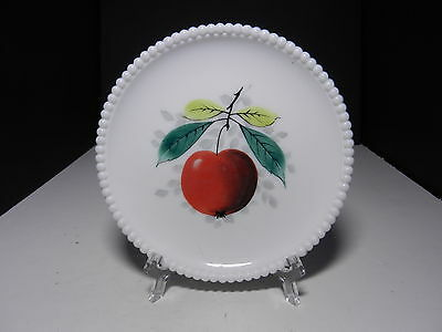 "Westmoreland Beaded Edge Salad Plate Apple 7 3/8"" D ca 1953-1985"