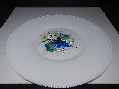 "Westmoreland Beaded Edge Torte Plate Zodiac Back Grapes 15"" D ca 1953-1985"