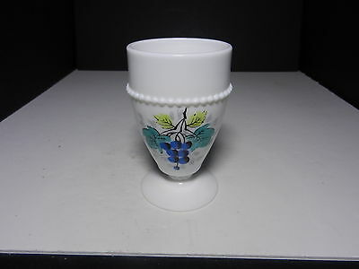 "Westmoreland Beaded Edge Water Goblet Blueberry BE-8 5"" T ca 1953-1985"