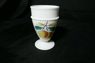 "Westmoreland Beaded Edge Water Goblet Peach BE-8 5"" T ca 1953-1985"