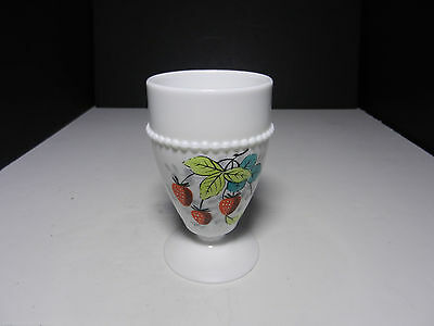 "Westmoreland Beaded Edge Water Goblet Strawberry BE-8 5"" T ca 1953-1985"