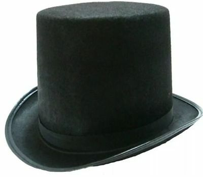 Black Top Hat Mat Hatter Party Costume Magician Wedding Fedora Book Week Fromal