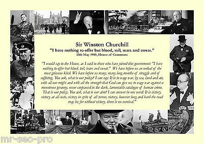 "Winston Churchill - World War 2 Speech - ""Blood, Toil, Tears and Sweat"" - 1940"