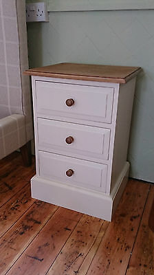 Edwardian Pine 3 Drawer Bedside Any colour/finish
