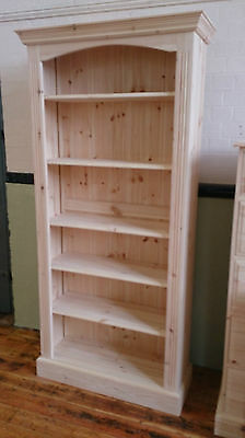 Edwardian Pine 5 Shelf Bookcase - Any Finish/Colour