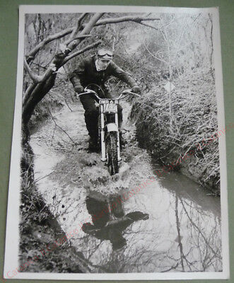 Vintage photo of Motorcycle Trials racing sports photographer Len Thorpe 60's_2