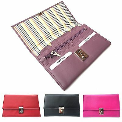 Golunski 1004 Lockable Leather Travel Wallet Organiser Document Holder.