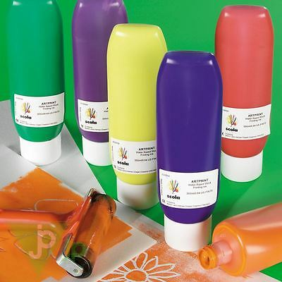 Scola Artprint 300ml Bottles Of Lino Block Printing Mixable Roller Paint