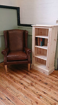 Edwardian Pine 4 Shelf Bookcase - Any Finish/Colour