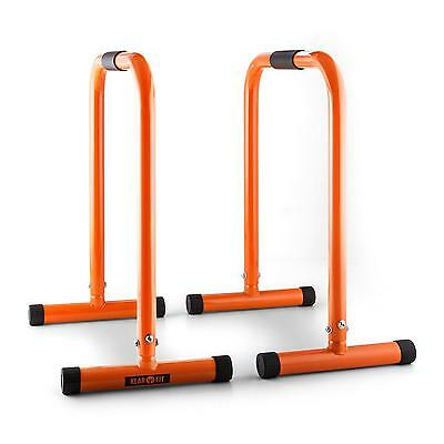 Fitness Rack Bis 180Kg Trainingsgerät Equalizer Powerrack Dipstation Orange Neu