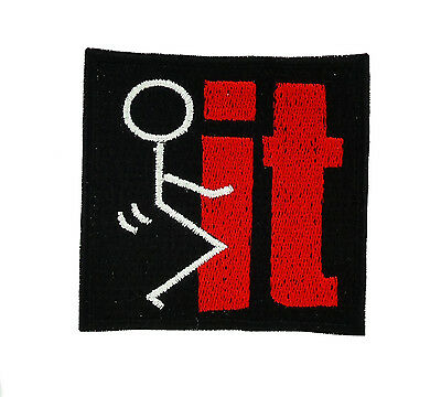 Patch backpack f*ck it  iron on biker motorcycle airsoft