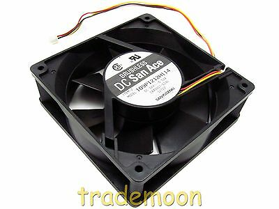 109P1212H114 Sanyo 120mm x 38mm 12V .52A  3-Wire Fan CA49007-0131