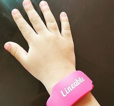 Lineable Smart Wrist Band Pink Child Lost Protection Kids Safety Locator