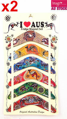 12pcs Australian Souvenir Fridge Magnets Boomerangs Assorted Design LY-MGT071x2
