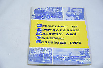 Directory Of Australasian Railway And Tramway Societies 1978 By Brian M. Coleman