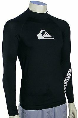 Quiksilver All Time LS Rash Guard - Black - New
