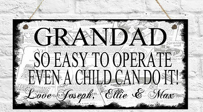 Personalised Plaque Dad Brother Uncle Grandad Daddy Nanny Gift Birthday Present