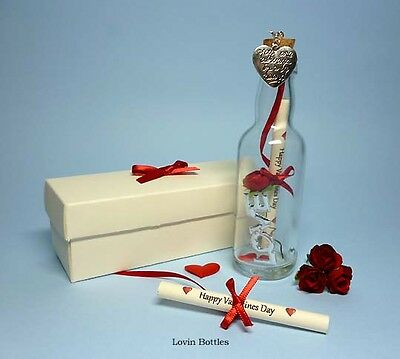 Valetines Day Personalised Message In A Bottle Gift