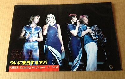 1980 Abba JAPAN mag photo pinup / mini poster / vintage clipping cutting a02m