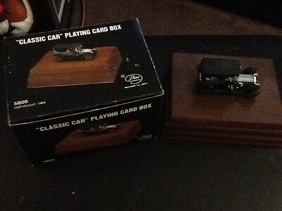 Vintage   Collectible Classic Car Woode Box with Playing Cards by Price Products