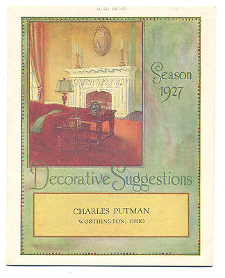 Wall paper decoration suggestion booklet - 1927 - like a sample book