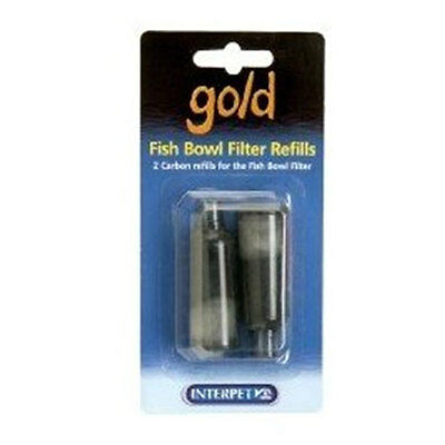 INTERPET GOLD FISH BOWL FILTER REFILLS (Pack of 4)  0755349006212