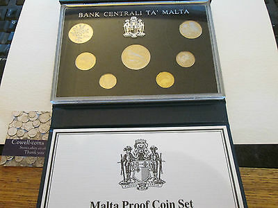 Malta 1986 KM#PS11 Official Republic 7 Coin Proof Set Low Mintage very scarce