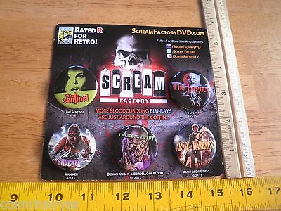 Scream Factory SDCC 2015 exclusive button set Army of Darkness Tales from Crypt