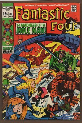 Fantastic Four #89 - The Madness of the Mole Man! - 1969 (7.0) WH