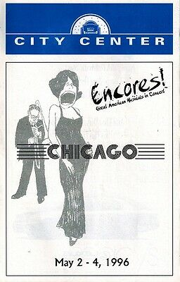 Encores City Center - Chicago - Pre Broadway -  Cast Signed