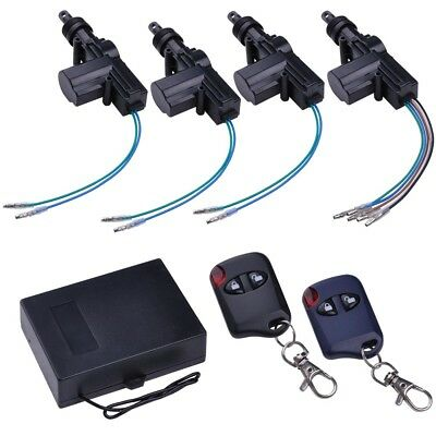 Electric 2 Power Car Truck Window Conversion Kit Roll Up With 4 Door Lock Kit