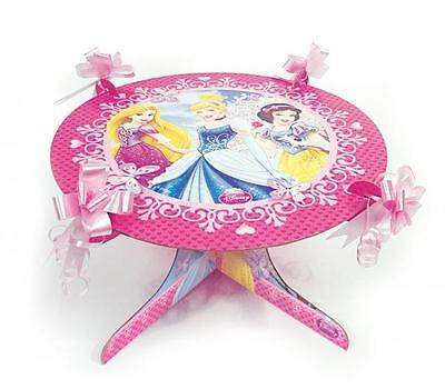 Disney Princess Sparkle Party Cake Stand with Pink Bows