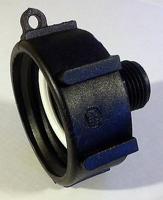 "275 330 Gn IBC Tote Tank FOOD GRADE DRN ADAPTER 2"" COARSE Thread x GARDEN HOSE"