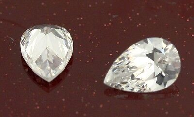 Loose 12 Gemstones Lot Pear Shape White Cubic Zirconia 12x8mm Simulated Diamonds