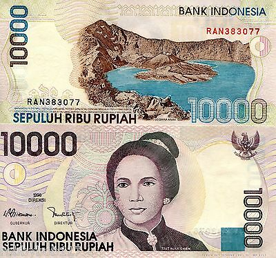 INDONESIA 10000 Rupiah Banknote World Paper Money Currency Pick p137b 1998 2005