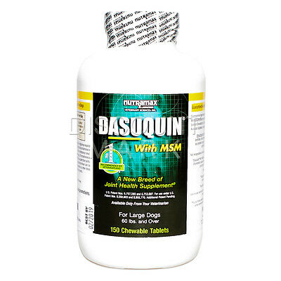 DASUQUIN With MSM For Large Dogs Over 60 lbs 150 Count Nutramax Hip Joint Bone