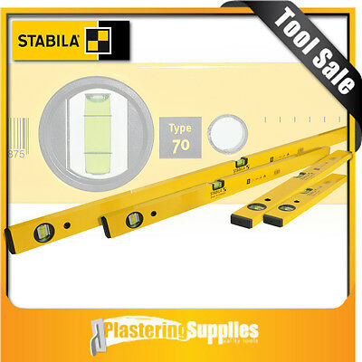Stabila Spirit Level  4 Piece Box Level Set + Free Folding Ruler Type 70