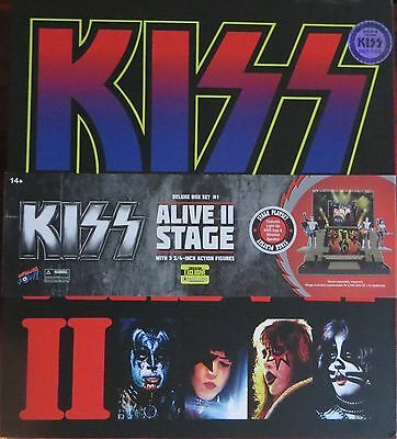 KISS Alive II Stage & Action Figures-Deluxe box set-Ltd Edition (1500 issued)-Co