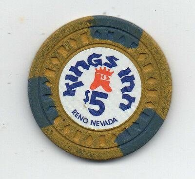 Old 5 Dollar Poker Chip Kings Inn Reno Nevada