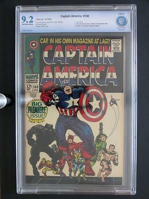 Captain America #100 -NEAR MINT- CBCS 9.2 NM- Marvel 1968 - ORIGIN issue!!!