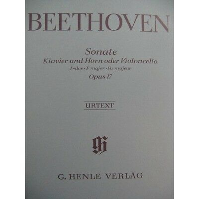 BEETHOVEN Sonate op 17 Piano Cor ou Violoncelle  Partition Sheet Music Spartiti