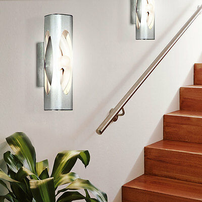 2er set luxus beleuchtung led garagen wand lampen 7 watt mauer leuchten klarglas eur 31 90. Black Bedroom Furniture Sets. Home Design Ideas