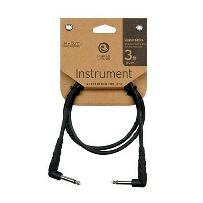 Planet Waves 3' Right Angle Classic Series Patch Lead - P/No:- PW CGTP RA03