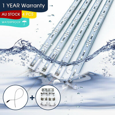 4X 12V Waterproof Cool White 5630 Led Strip Lights Bars Car Boat Camping Caravan