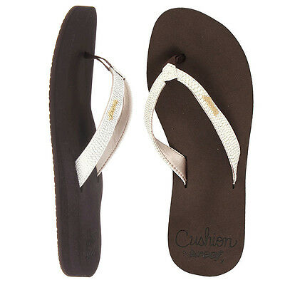 Chanclas Reef Star Cushion Sassy Brown White flip flops infradito tongs