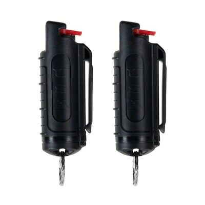 2 Police Magnum mace pepper spray .50oz black molded keychain defense protection